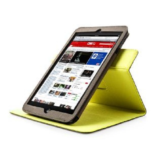 CAPDASE Folder Case Folio Canvas series for Apple iPad mini [FCAPIPADM-136E] - Green Yellow - Casing Tablet / Case